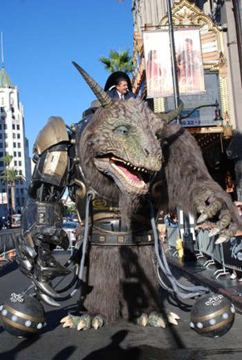 Bodock, created by Stan Winston School and Legacy Effects with 3D printing by Stratasys, on Hollywood Blvd. for the Jimmy Kimmel Show