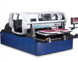 The Kornit Digital Avalanche DC Pro direct-to-garment printer
