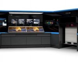 Landa S10 Nanographic Printing Press Operator Cockpit