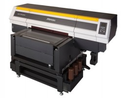 New LUS-350 UV ink is compatible with the Mimaki UJF-7151plus, direct-to-object production flatbed LED UV printer.