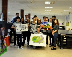 Graphic Design students from South Cheshire College