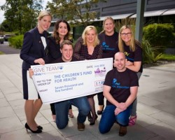 (L to R) Helena Morgan, Corporate Development Manager, Children's Fund for Health, Eugene O'Reilly, eBay GIVE Team, Hazel Mitchell, Site Director, eBay, Louise Phelan, Vice President of Global Operations EMEA, PayPal, Gillian Geraghty, PayPal GIVE Team, Tommy Garvey, PayPal GIVE Team and Ciara Hughes, eBay GIVE Team.