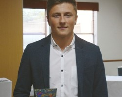 Nathan Aston, winner of the Roland DG Apprentice of the Year award