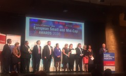 Applegree receives the Star of 2016 Award at the European Small and Mid-Cap Awards in Brussels