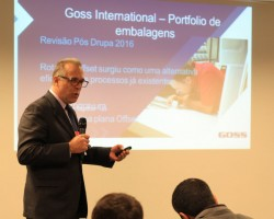 Vitor Dragone, General Manager of Goss Brazil, presented details of Goss' comprehensive packaging portfolio