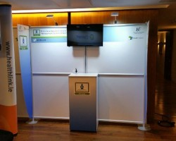 The T3 Affinity offered Absolute Graphics the perfect solution to the relative small dimensions of the display area available at a recent conference