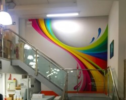 Wall graphics created by ABC Imaging using CMYUK's removable and repositionable UTACK media