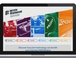 Laptop visual of the #WithRoland blog