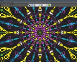 Corel Painter lite Kaleidoscope and Mirror Painting