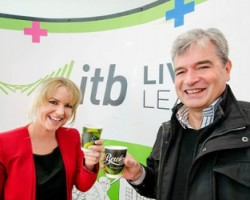 L R Fiona Harrison sales manager Kopikat and Dave Curran IT manager ITB