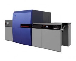 Konica Minolta's KM-1 B2 cut-sheet inkjet press