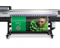 The Mimaki JV300 is the company's latest solvent and dye sub wide format printer