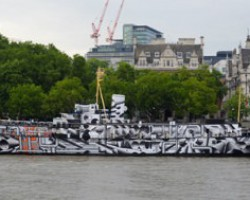 "PressOn wraps HMS President to create ""dazzle ship"""