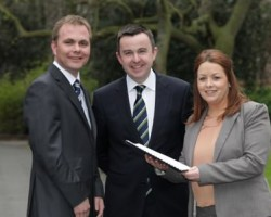 Patrick Kickham Director Datapac  Brian Hayes T D  Minister of State and Clara Quigley Sales Manager Datapac