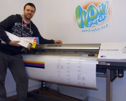 Paul Kearney back on track with Eco-Sol Max inks in his Roland VersaCAMM