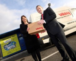 Orla Sheils, general manager of Parcel Motel and Jason McCourt, logistics manager of Viking in Ireland