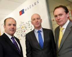 L-R Greg Clarke, Managing Director, Digicom; Trevor McCarron, Director of Finance & IT for Mazars Ireland and Ray Byrne, Channel Manager, Ricoh Ireland