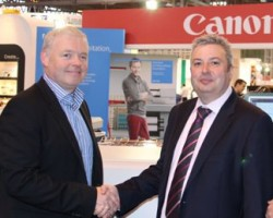 L-R John Foy, Sales and Marketing Director, Online Reprographics; Jason Kabi, Account Manager, Commercial, Canon UK
