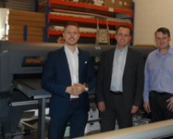 NXP's Luke Garbutt (sales), Nick Faux and production manager Steve Prior