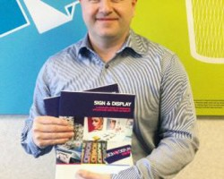 Michael Crook with new Antalis S and D brochure