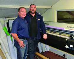 Sign D Sign's Albert Watson and Glenn MacPherson with the company's new Mimaki CJV30