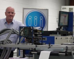 John Corrall with an IIJ print sample system used to help printers, packaging businesses and end users cope with the new regulations from Brussels