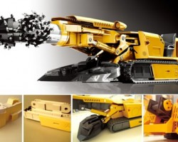 Roland Creative Awards grand prize entry - a tunneling machine prototype milled on the MDX-540